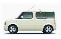 NISSAN CUBE Pearl White