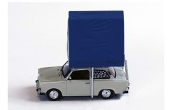 Trabant 601S Limousine (Camping) with Roof Tent in Resin - Light Grey - 1980
