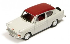 Ford Anglia 105E Sportsman 2 Tones Red & White (with Wheel Cover On The Back)