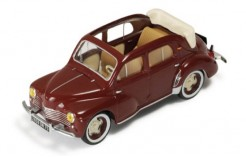 Renault 4CV Decouvrable (Open) Brown-Bordeaux (with Beige interiors 1955)