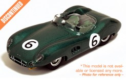 Aston Martin DBR1 M. Trintignant-P. Frere #6 2nd Le Mans 1959