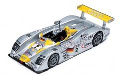 Audi R8 #2 Audi Sport L. Aiello - R. Capello - C. Pescatori 2nd Le Mans 2001