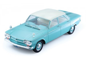 CHEVROLET CORVAIR 4-Doors Sedan 1961 Light Green W/ White Roof