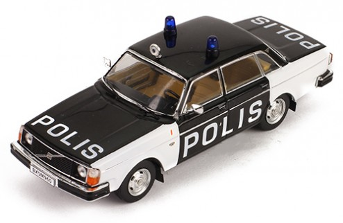 VOLVO 244 Swedish Police 1978 White