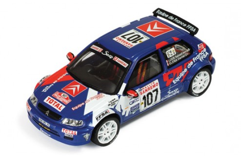 Citroen Saxo Kit Car #107 S. Loeb-D. Elena Rallye Sanremo 1999