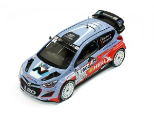 HYUNDAI i20 WRC #1 B.Bouffier - X.Panseri Winner Rally Antibes 2014 (First win)