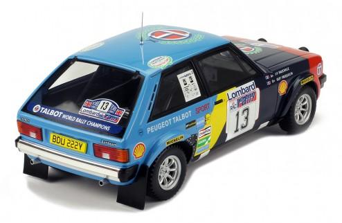 TALBOT SUNBEAM Lotus #13 G. Frequelin-J.-F. Fauchille RAC Rally 1982