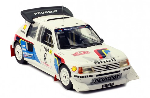 PEUGEOT 205 t16 E2 #8 B. Saby-J. Fauchille Rally Monte-Carlo 1986
