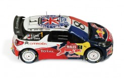 Citroen DS3 WRC #1 S. Loeb-S. Elena Wales Gb Rally 2011 (French Flag with 8)
