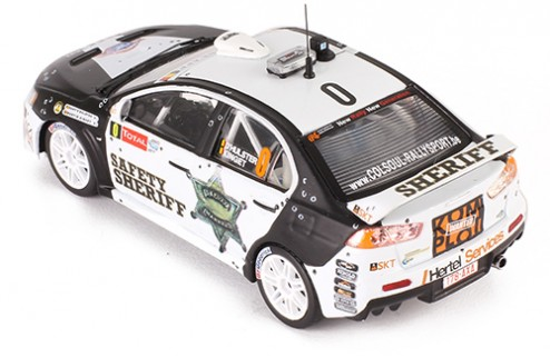 MITSUBISHI Lancer Evo X (Safety Sheriff #0) Rally Ypres 2011