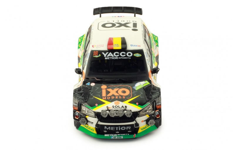 Skoda Fabia r5 evo rally Condroz 2019 yacco de Cecco 1:43 Ixo RAM 735 nuevo