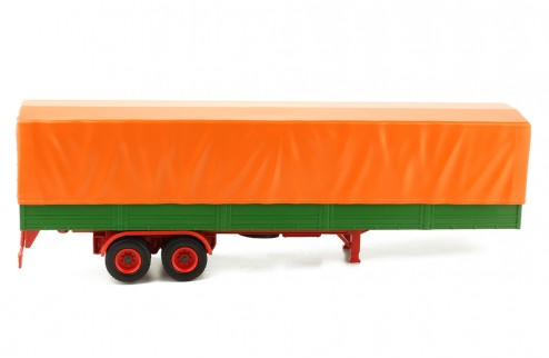 TRUCK Trailer with Canvas cover - Orange/Green