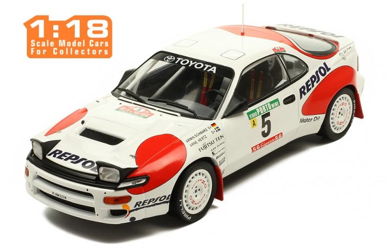 Rallye Portugal 1992 IXO Models 1:18 Toyota Celica GT-Four Schwarz // Hertz