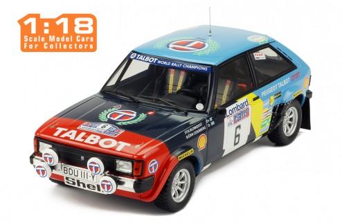 TALBOT SUNBEAM Lotus #6 S. Blomqvist-B. Cederberg RAC Rally 1982