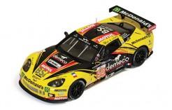 Chevrolet Corvette C6 Zr1 #50 P. Bornhauser - J. Canal - G. Gardel Winner GTe Am Le Mans 2011