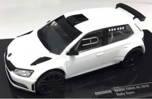 SKODA FABIA R5 2016 - All white  (2 set of wheels and tyres)
