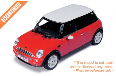New Mini Cooper 2000 Red (with White Roof