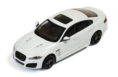 Jaguar XFR 2010 White (Dark Grey Wheels) - Black & Aluminium interior