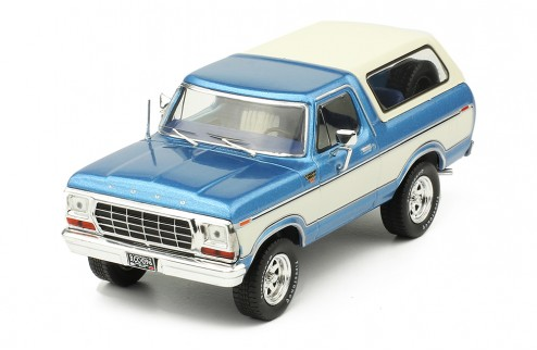 FORD BRONCO 1978 Metallic Light Blue and White