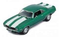 CHEVROLET CAMARO RS 1969 METALLIC GREEN W/WHITE STRIPES