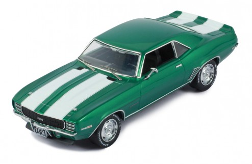 CHEVROLET CAMARO RS 1969 METALLIC GREEN W/WHITE STRIPES