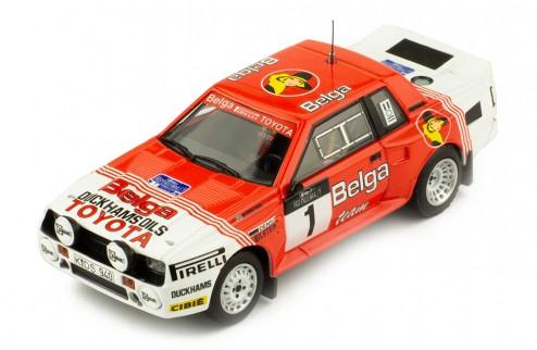 TOYOTA Celica TwinCam Turbo (TA64) #1 J. Kankkunen-F. Gallager Haspengouw Rally 1985