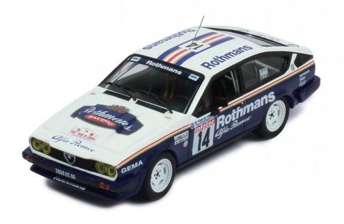 ALFA ROMEO GTV6 #14 Y. Loubet-J.M. Andried Tour de Corse 1986