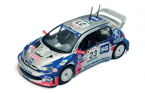 "PEUGEOT 206WRC ""SILVER TEAM"" A.LOPES RALLYE DE PORTUGAL 2001"